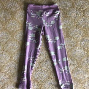 LulaRoe Girls leggings S/M